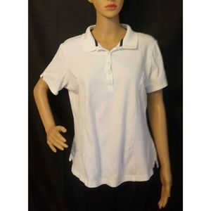 Riders by Lee White Womens Polo